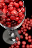 Cranberries in a glass Royalty Free Stock Photography