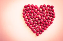 Cranberries heart Stock Photo