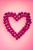 Cranberries heart Royalty Free Stock Image