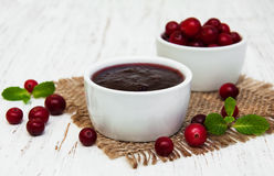 Cranberries jam Stock Images