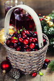 Cranberries and juice Royalty Free Stock Photography