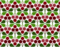 Cranberries Pattern. Scandinavian geometric pattern with stylized cranberries and cowberries on white background. Vector seamless repeat Stock Images