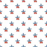 Cranberries pattern seamless. Cranberries pattern in cartoon style. Seamless pattern vector illustration Royalty Free Stock Photos