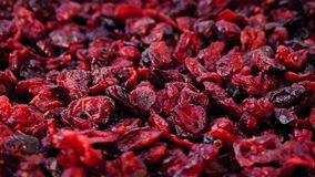 Cranberries In Pile Rotating. Pile of dried cranberries turning slowly stock video footage