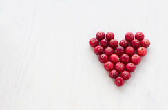 Cranberries in the shape of a heart Royalty Free Stock Photos