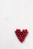 Cranberries in the shape of a heart Stock Image