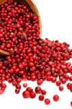 Cranberries spilling close-up Stock Image