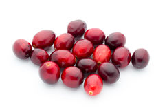 Cranberries top view. Red, ripe cranberries macro view. Royalty Free Stock Photos