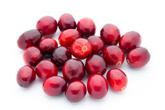 Cranberries top view. Red, ripe cranberries macro view. Stock Photography