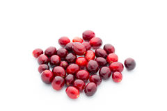 Cranberries top view. Red, ripe cranberries macro view. Stock Photo