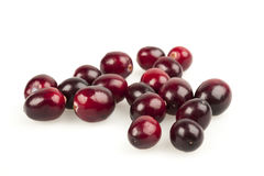 Cranberries on white Royalty Free Stock Image
