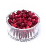 Cranberries in a wicker tray Stock Image