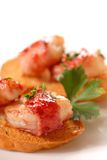 Cranberry apple glazed shrimp wrapped in bacon Royalty Free Stock Photo
