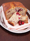 Cranberry banana bread Royalty Free Stock Photos