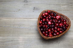 Cranberry in a basket Stock Photos