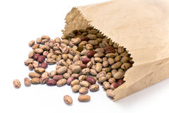 Cranberry bean in paper bag Stock Image