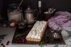 Cranberry bezy tarta Fotografia Stock