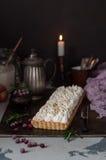 Cranberry bezy tarta Fotografia Royalty Free