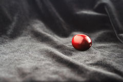 Cranberry on black velvet Stock Photography