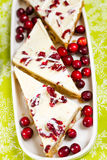 Cranberry bliss bar Stock Image