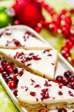 Cranberry bliss bar Royalty Free Stock Images