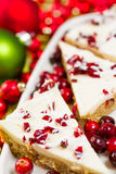 Cranberry bliss bar Royalty Free Stock Image