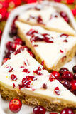Cranberry bliss bar Stock Photo