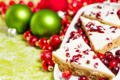 Cranberry bliss bar Royalty Free Stock Photo