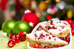 Cranberry bliss bar Royalty Free Stock Photography