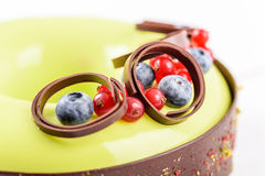 Cranberry And Blueberry Fruit Cake Royalty Free Stock Photos