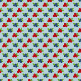 Cranberry and blueberry seamless pattern 4 Stock Photos