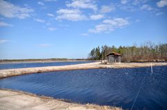 Cranberry Bog Pump House Royalty Free Stock Photography