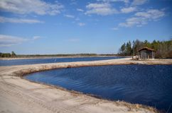 Cranberry Bog Pump House Stock Photography