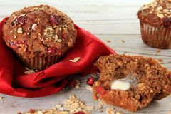 Cranberry bran muffin Royalty Free Stock Photography