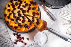 Cranberry Cheesecake Royalty Free Stock Photo