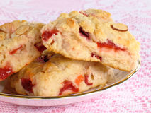 Cranberry & Cherry Scones Stock Photo
