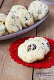 Cranberry and chocolate cookies Stock Photos