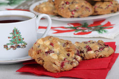 Cranberry Christmas Cookies Royalty Free Stock Image
