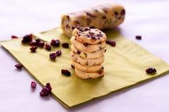 Cranberry ciastka Zdjęcie Royalty Free