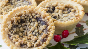 Cranberry and Clementine Fruit Mince Pies. Royalty Free Stock Photography