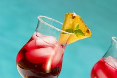 Cranberry cocktail Stock Images