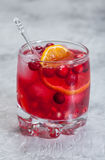 Cranberry cocktail with ice and mint Royalty Free Stock Image