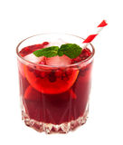 Cranberry cocktail with mint Royalty Free Stock Image