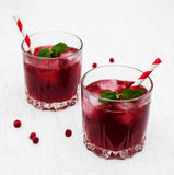 Cranberry cocktail with mint Stock Photography