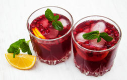 Cranberry cocktail with mint Stock Image