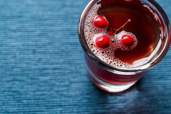 Cranberry cocktail shot with vodka. Beverage Concept Royalty Free Stock Image