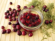 Cranberry compote Royalty Free Stock Photos