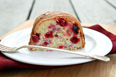 Cranberry Cream Cheese Bundt Cake Royalty Free Stock Photography