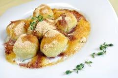 Cranberry dessert dumplings stock photos