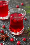 Cranberry drink. With fresh berries for Christmas Royalty Free Stock Images